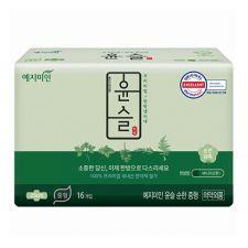 Yejimiin Silk Touch Cotton Sanitary Pads Mild M 16 Pcs, 예지미인 윤슬 순한 중형 16개입