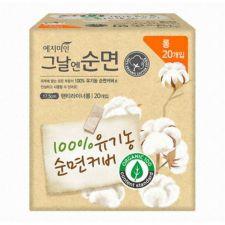 Yejimiin Organic Cotton Panty Liner Long 20 Pcs, 예지미인 유기농 그날엔 순면 팬티라이너 롱 20개입