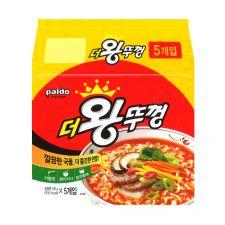 Paldo Jumbo Pack Noodle 4.23oz(120g) 5 Packs, 팔도 더왕뚜껑 4.23oz(120g) 5팩