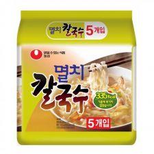 Nongshim Kal Guk Soo Korean Style Noodle Soup 3.45oz(98g) 5 Packs, 농심 멸치 칼국수 3.45oz(98g) 5팩