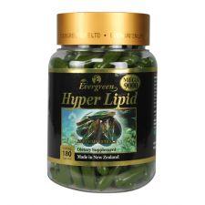 Evergreen Hyper Lipid 1000mg 180 Caps, 에버그린 하이퍼 리피드 (녹색 홍합) 1000mg 180 캡슐, Evergreen  超貽脂膠囊 1000mg 180粒
