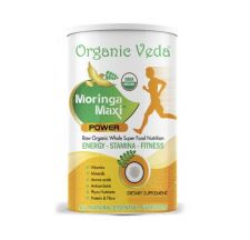 Organic Veda Moringa Powder 7oz(199g), 오가닉 베다 유기농 모링가 파우더 7oz(199g)