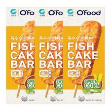 Chung Jung One Fish Cake Bar Sweet Corn 2.8oz(80g) 3 Packs, 청정원 옥수수 어묵바 2.8oz(80g) 3팩, 淸淨園 魚餅棒 玉米口味 2.8oz(80g) 3根