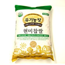 Organic Farm Organic Brown Sweet Rice 15lb(6.8kg), 유기농장 유기농 현미찹쌀 15lb(6.8kg), 有機農場 Organic Brown Sweet Rice 15lb(6.8kg)