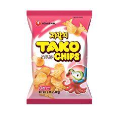 Nongshim Tako Chips Octopus Flavor 2.11oz(60g), 농심 자갈치 2.11oz(60g)