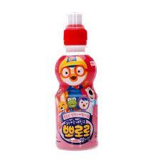 Paldo Pororo Strawberry Flavor Juice Drink 7.95fl oz (235ml), 팔도 뽀로로 음료 딸기맛 7.95fl oz (235ml)