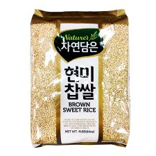 Nature's Brown Sweet Rice 4lb(1.81kg), 자연담은 현미찹쌀 4lb(1.81kg)
