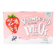 Haioreum Strawberry Flavored Milk Drink 6.76 fl.oz(200ml) 6 Packs, 해오름 딸기맛 우유 6.76 fl.oz(200ml) 6개입, Haioreum 草莓牛奶 6.76 fl.oz(200ml) 6包