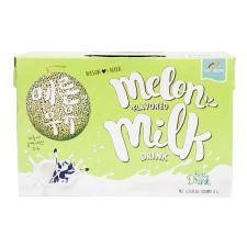Haioreum Melon Flavored Milk Drink 6.76oz(200ml) 6 Packs, 해오름 메론 우유 6.76oz(200ml) 6개입