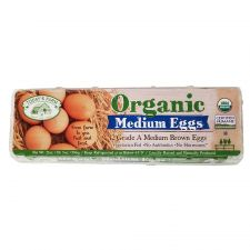 Today's Farm Grade A Organic 12 Medium Brown Eggs 21oz(596g), 투데이즈팜 A등급 유기농 12 미디엄 브라운 계란 21oz(596g)