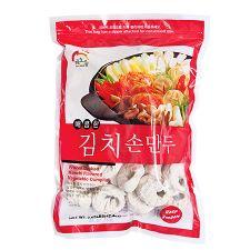 Haioreum Kimchi Dumpling 2.65lb(1.2kg), 해오름 매콤한 김치 손만두 2.65lb(1.2kg), Haioreum 泡菜水餃 2.65lb(1.2kg)