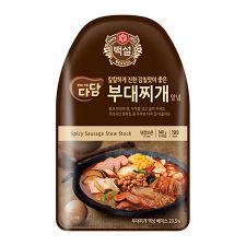 CJ Dadam Spicy Sausage Stew Stock 4.93oz(140g), 씨제이 다담 부대찌개 양념 4.93oz(140g)
