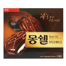 Lotte Moncher Cacao Cake 13.6oz(384g) 12 Pieces, 롯데 몽쉘 카카오 케이크 13.6oz(384g) 12개입