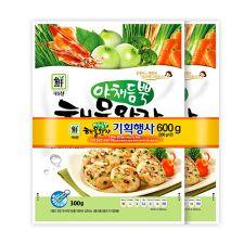 Seafood Patty Vegetable 2 Pack Set 1.32lb(300g+300g),야채듬뿍 해물완자 2팩 기획 세트 1.32lb(300g+300g),海鮮蔬菜肉餅 2包入 1.32lb(300g+300g)