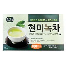 Choripdong Green Tea with Brown Rice 0.05oz(1.5g) 100 Tea Bags, 초립동이 현미녹차 0.05oz(1.5g) 100티백