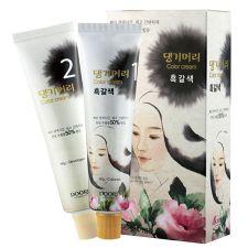 Daeng Gi Meo Ri Medicinal Herb Hair Color Dark Brown, 댕기머리 한방 칼라 크림 새치머리용 흑갈색