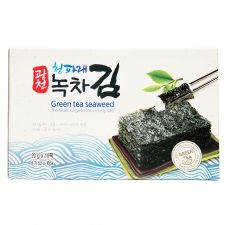 Kwang Cheon Premieum Green Tea Seaweed Gift Box 0.7oz(20g) 10 Packs, 광천 청파래 녹차김 선물세트 0.7oz(20g) 10팩, KwangCheon Premieum Green Tea Seaweed Gift Box 0.7oz(20g) 10包