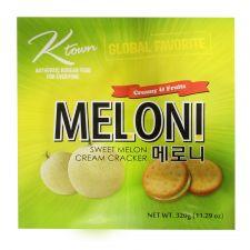 Ktown Meloni Sweet Melon Cream Cracker Big Size 11.29oz(320g), 케이타운 메로니 빅사이즈 11.29oz(320g)