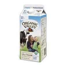 Organic Valley 1% Lowfat Milk, 오가닉 밸리 1% 저지방 우유