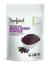 Sunfood Raw Organic Maqui Berry Powder 8oz(227g), Sunfood 유기농 마키베리 파우더 8oz(227g)