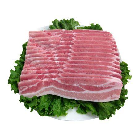 Frozen Sliced Single Pork Belly 2lb(907g)