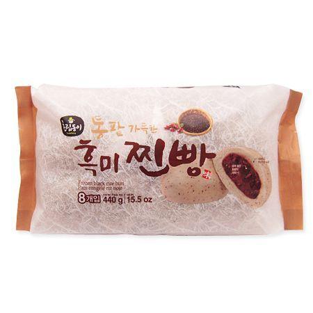 Frozen Black Rice Bun 8 Pcs 15.5oz(440g)