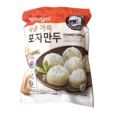 Bibigo Steamed Dumplings Pork & Vegetable 24oz(680g)