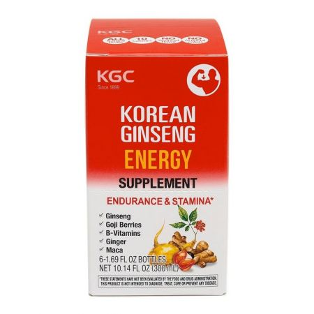 Korean Ginseng Energy Supplement 1.69 fl.oz(50ml) X 6 Bottles