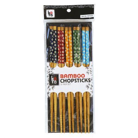 Bamboo Chopsticks Clover 5 Colors Mixed