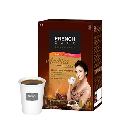 French Cafe Coffee Mix Arabica Gold Label 100 sticks