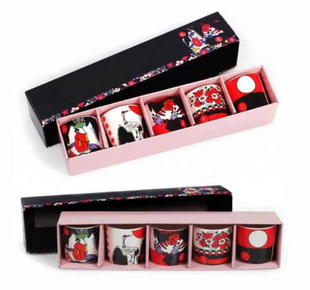 Hwatu Soju Glasses 5 Pcs Set