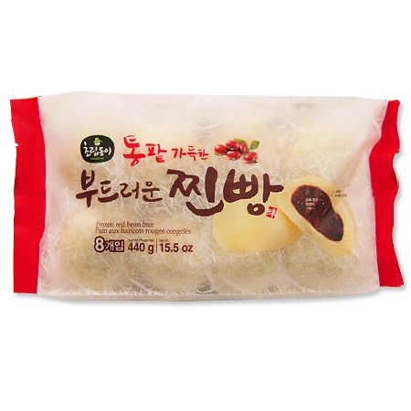 Frozen Red Bean Bun 15.5oz(440g) 8 Pcs