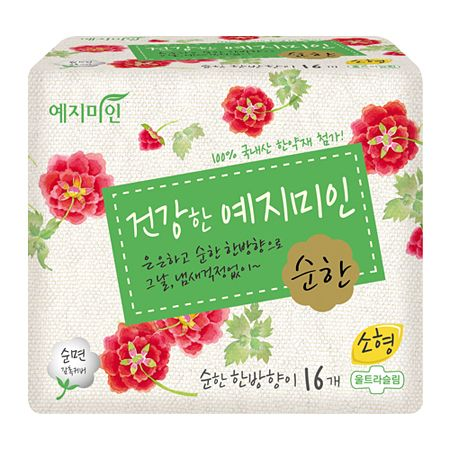Cotton Sanitary Pads Mild Herbal Scent [S] 16 Pack