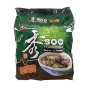 Soo Air dried Noodles Beef Flavor with Seaweed 3.24oz(92g) 4 Packs