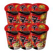 Shin Cup Noodle Soup 2.64oz(75g) 6 Cups
