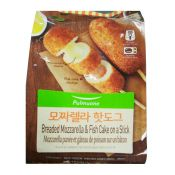 Breaded Mozzarella & Fish Cake on a Stick 2.8oz(80g) 5 Packs