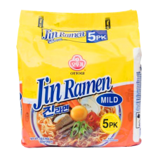 Jin Ramen Mild Flavor 4.23oz(120g) 5 Packs
