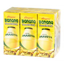 Banana Flavored Milk Drink 6.8oz(200ml) 6 Packs