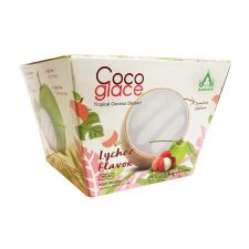 Coco Glace Tropical Coconut Dessert Lychee Flavor 6.35oz(180g)