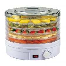 5-Tier Food Dehydrator Round White