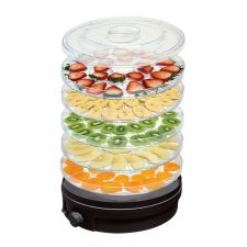 5-Tier Food Dehydrator Round Black