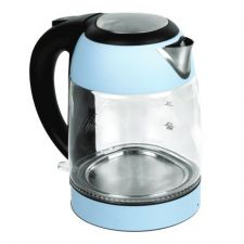 Electric Glass Kettle Blue 57.48oz(1.7L) (1200W)