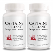 Captains Krill Oil 1,000mg 60 Caps, 캡틴 크릴 오일 1,000mg 60 캡슐