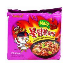 Mala Hot Chicken Flavor Ramen 4.76oz(135g) 5 Packs