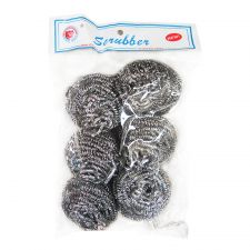 Stainless Steel Scrubber 6 Pcs