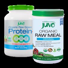 JUVO Organic Raw Meal Original + Protein (Set of 2)