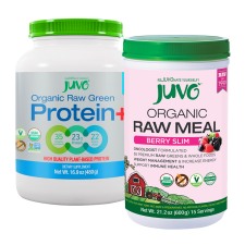 JUVO Organic Raw Meal Berry Slim + Protein (Set of 2)