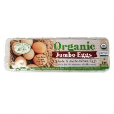 Grade A Organic 12 Jumbo Brown Eggs 30oz(851g)