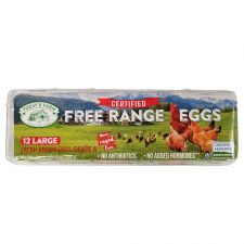 Grade A Free Range 12 Large Brown Eggs 24oz(681g)