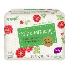 Cotton Sanitary Pads Mild Herbal Scent [L] 14 Pack